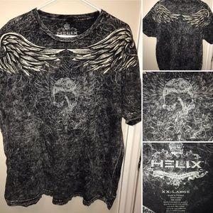 NWOT XXL Helix vintage style tea w/skull